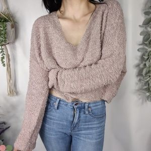 NWOT FREE PEOPLE Popcorn knit pullover 0908